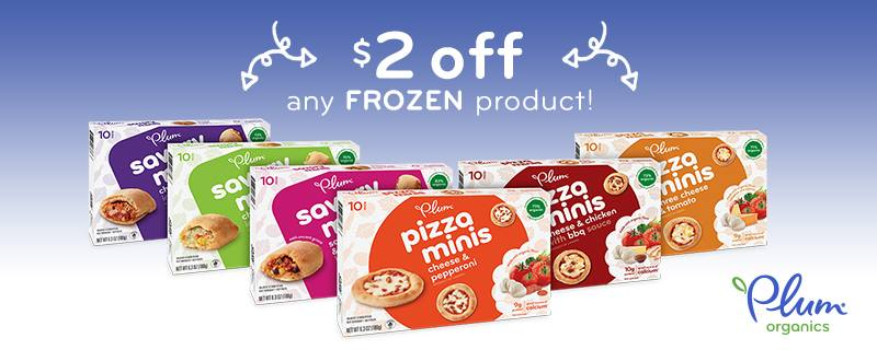 graphic relating to Plum Organics Printable Coupon identified as Concentration: $0.33 Plum Organics Pizza Minis (reg $4.99