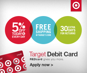 When you use your REDcard at Target stores or at dumcecibit.ga, you'll receive 5% off your purchase just for using your card! Even better, the REDcard discount is combinable with other Target coupons, making it even easier to get an incredible deal on your Target purchase.5/5().